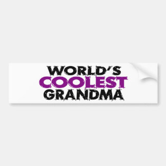 La abuela más fresca de los mundos etiqueta de parachoque