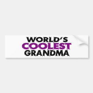 La abuela más fresca de los mundos pegatina para auto