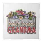 La abuela más grande del mundo azulejos