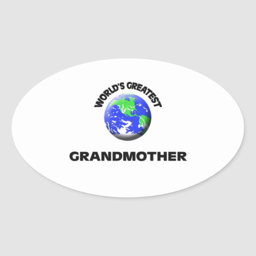 La abuela más grande del mundo calcomania óval
