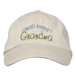 La abuela más grande del mundo gorra de beisbol bordada