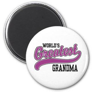 La abuela más grande del mundo imán redondo 5 cm