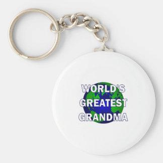 La abuela más grande del mundo llavero personalizado