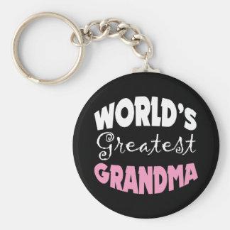 La abuela más grande del mundo llavero redondo tipo pin