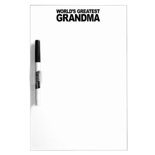 La abuela más grande del mundo pizarras blancas de calidad