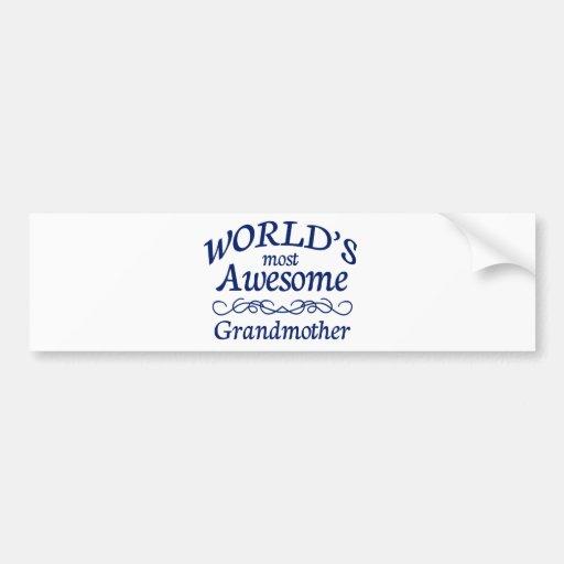 La abuela más impresionante del mundo pegatina de parachoque