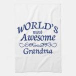 La abuela más impresionante del mundo toallas de cocina
