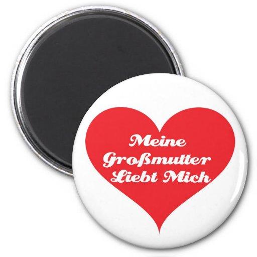 La abuela me ama alemán imán redondo 5 cm