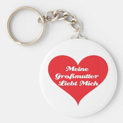 La abuela me ama alemán llavero redondo tipo pin