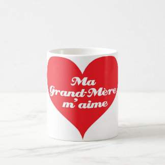 La abuela me ama (los franceses) taza