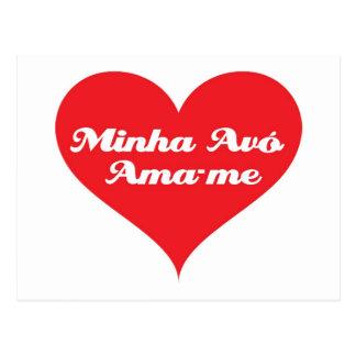 La abuela me ama portugués postal