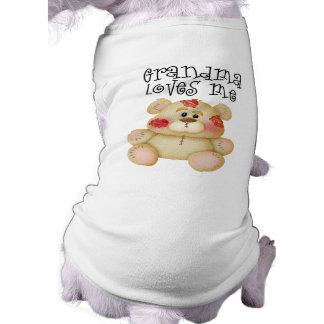 La abuela me ama camisas de mascota