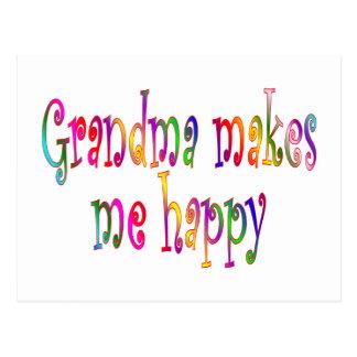 La abuela me hace feliz postal