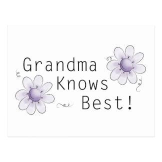 La abuela sabe mejor postal