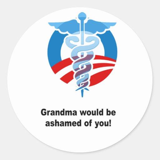 La abuela sería ofyou avergonzado etiquetas