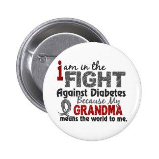 La abuela significa el mundo a mí diabetes pin redondo de 2 pulgadas