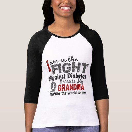 La abuela significa el mundo a mí diabetes camisetas