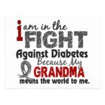 La abuela significa el mundo a mí diabetes postales