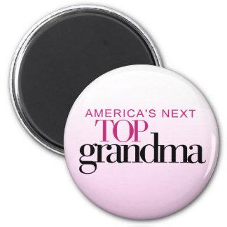 La abuela superior siguiente de América Imán Redondo 5 Cm