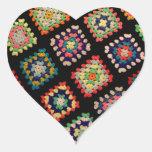 La abuelita colorida antigua ajusta el modelo clás calcomanías corazones