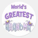 La abuelita más grande etiquetas