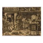 La academia de Baccio Bandinelli, 1547 Postales