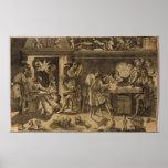 La academia de Baccio Bandinelli, 1547 Poster