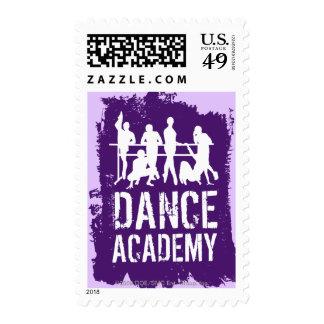 La academia de la danza siluetea el logotipo envio