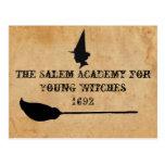 La academia de Salem para las brujas jovenes Postales