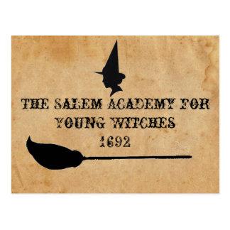 La academia de Salem para las brujas jovenes Tarjeta Postal