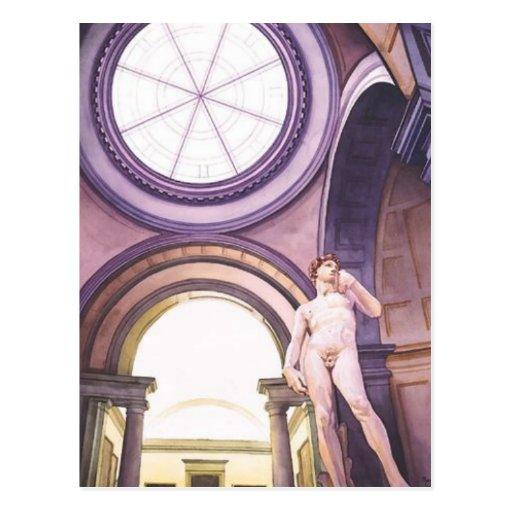 """La Academia"" Michelangelo's David Art Post Cards"