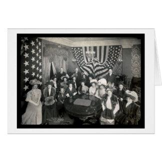La Academia Naval patrocina la foto 1908 Tarjeta De Felicitación