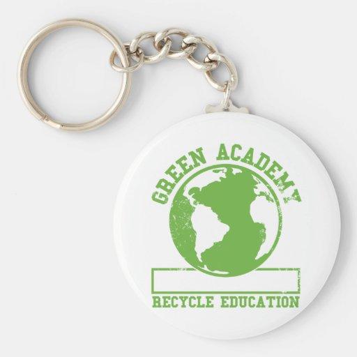 La academia verde recicla llavero