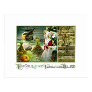 La acción de gracias del peregrino de 1620 postales