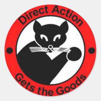 la acción directa consigue al pegatina de las