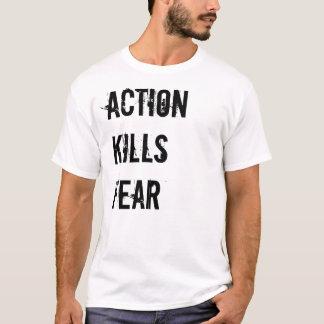La acción mata a la camiseta de los hombres del