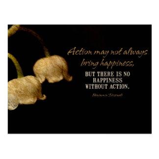 La acción trae a felicidad el cojín de ratón tarjeta postal