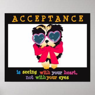 La aceptación está considerando con sus posters de póster