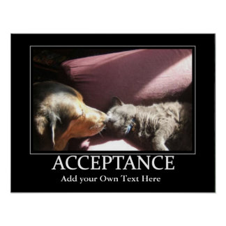 La aceptación inspira el poster póster