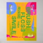¡La aclaración de la seda del cepillo, entonces SO Posters