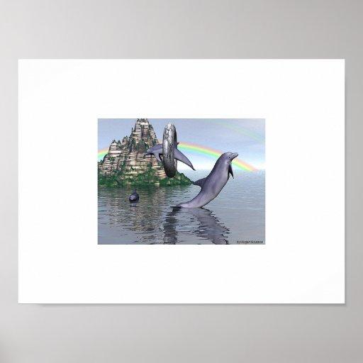 La acrobacia del delfín impresiones