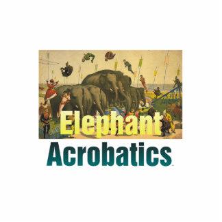 La acrobacia del elefante de la CAMISETA Fotoescultura Vertical