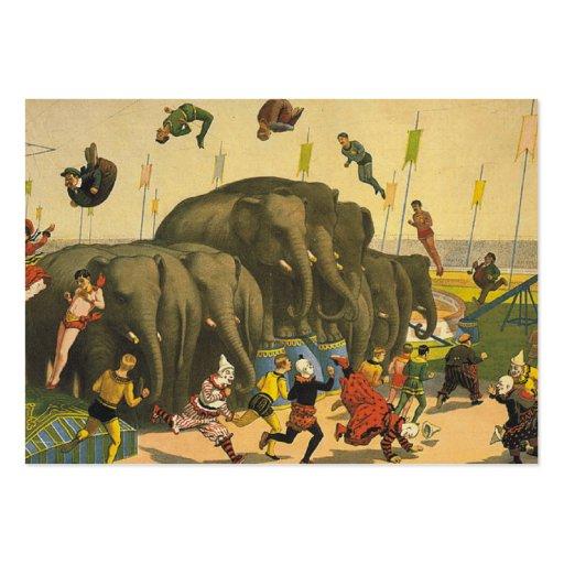 La acrobacia del elefante de la CAMISETA Tarjeta De Negocio