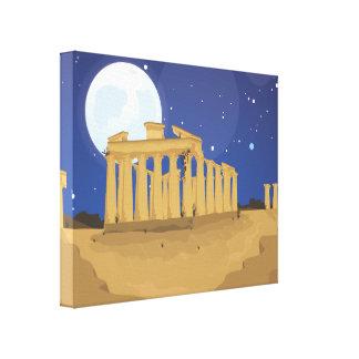 La acrópolis de Atenas Impresión En Lienzo