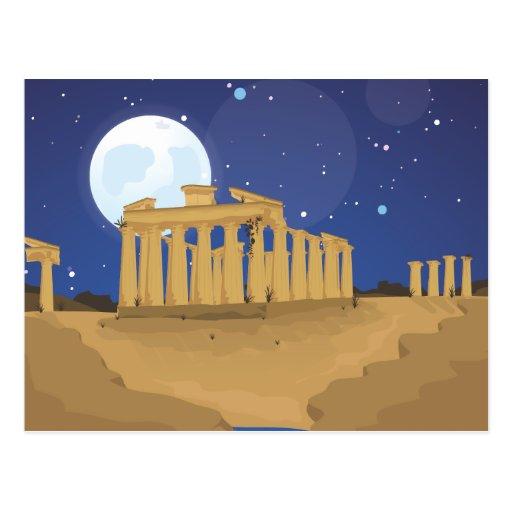 La acrópolis de Atenas Tarjetas Postales