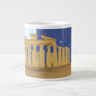 La acrópolis de Atenas Taza De Café Gigante