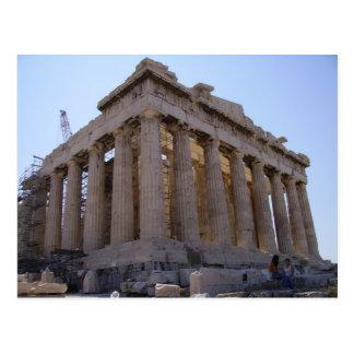 La acrópolis en Atenas, Grecia Postal