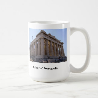 La acrópolis en Atenas, Grecia Taza
