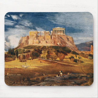 La acrópolis en el paisaje del color de Atenas Gre Tapete De Ratones