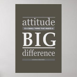 La actitud de Churchill es una pequeña cosa que ha Póster
